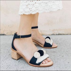 Soludos Pom Pom leather insoles sandals 9